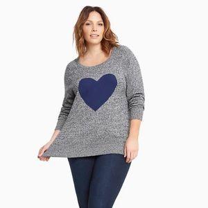 Torrid heart Reglan Heather grey sweatshirt 2
